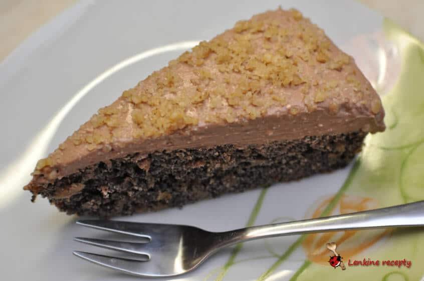 makovo – jablkový koláč s čokoládovým krémom