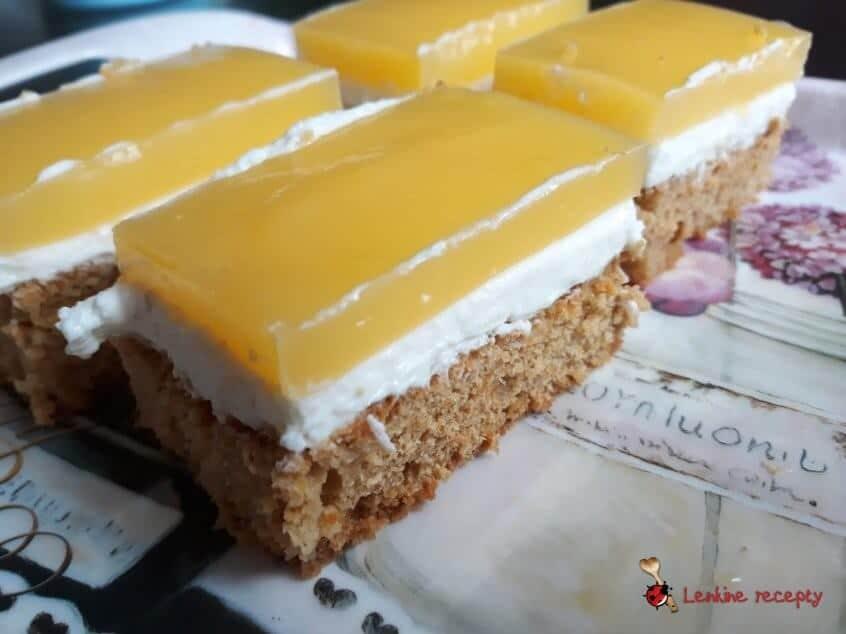 Mrkvovo – tvarohové rezy s ovocnou želatínou